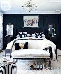 white bedroom decorating ideas black and small