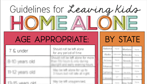 Heres A Chart That Tells You When You Can Leave Your Kids Home Alone