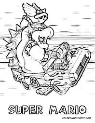 Mario Kart Coloring Pages For Kids