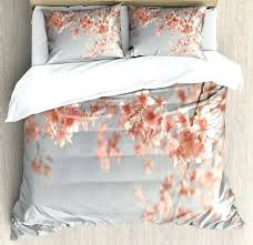 peach duvet cover set king size scenery tree cherry blossom nature photography spring bedding grey c cherry blossom comforters queen x duvet cover