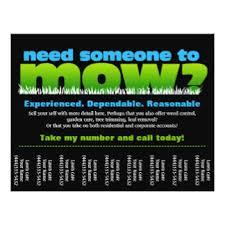 lawncare ad lawn care flyers programs zazzle