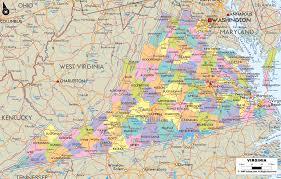 detailed political map of virginia  ezilon maps