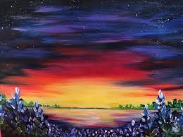 how to paint wicked bluebonnet sunset