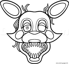 Charming Design Fnaf Mangle Coloring Pages Golden Freddy Face Fixed