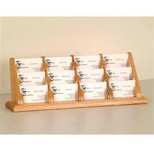 wooden mallet bcc4 12lo 12 pocket countertop business card holder in light oak binders best canada
