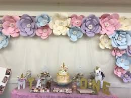 Paper Flower Decor 20 Piece Large Paper Flowers Backdrop Birthday Wall Decor Party