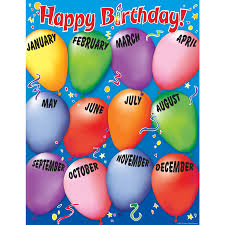 Birthday Chart For Teachers Up To 75 Discount On Happy Birthday 2 Chart Www Strictlyforkidsstore Com