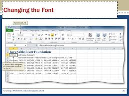 Excel Chapter 1 Creating A Worksheet And An Embedded Chart