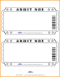 6 ticket template receipt templates admit one ticket template printable