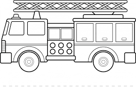 Car Fire Engine Coloring Book Firefighter Truck Cartoon Tow Truck