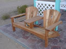 Fabulous Adirondack Chair Bench Double Adirondack Chair Plans Free ...