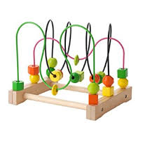 Wooden Bead Game Amazon Ikea Wooden Bead Roller Coaster Multicolor Kitchen 12