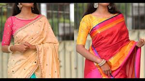 Boat Neck Blouse Designs For Saree Latest Boat Neck Blouse Design Blouse Design