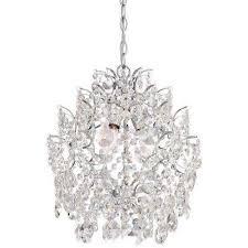 3 light chrome mini chandelier