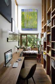 office for small spaces. A Narrow Walkway Is Transformed Into An Unexpected Office Space For Small Spaces