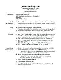 Sample Resume With Gpa