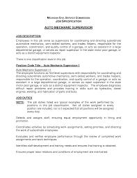 Entry Level Auto Technician Jobs Yun56 Co Mechanic Supervisor Resume
