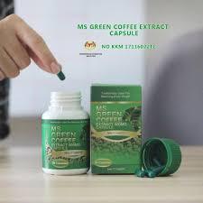 ms green coffee 500mg extract capsule mal17116022tc ready stock