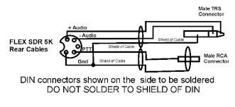 flex 5000 balanced line in to w2ihy audio interface configuration note connect the ground gnd to the cable shield but do not connect it to the shield of the din connector
