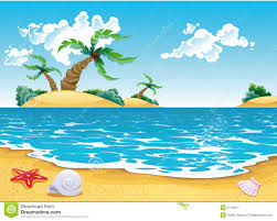 Cartoon Seascape Stock Vector Illustration Of Comic Landscape Plage Dessin L