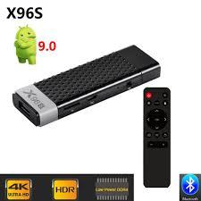 X96 S DDR4 4GB RAM 32GB ROM TV Stick Smart Android 9.0 TV Box Amlogic  S905Y2 WiFi Bluetooth 4K HD TV Dongle Mini PC X96S-Leather bag