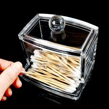 Cotton Pads Q tip Holder Clear Acrylic Makeup Organizer Box Cotton Swab  Storage -in Storage Boxes & Bins from Home & Garden on Aliexpress.com |  Alibaba ...