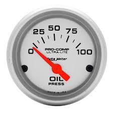 gauges ultra lite 2 1 16 oil pressure 0 100 psi air core ultra lite