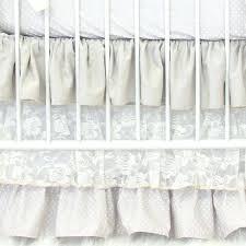 ruffle crib skirt pottery barn linen lace