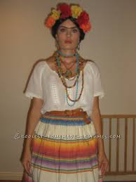 i got the idea for this easy homemade frida kahlo costume visiting a museum and it actually turned out to be quite easy to put together