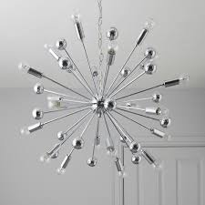 ... Komet Spherule Chrome Effect 20 Lamp Pendant Ceiling Light With B And Q  On Category 3000x3000px ...