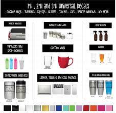 Drinking Glass Size Chart Sizing Chart Shop Vinyl Design A Deviers Company