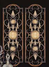 >tuscan wall sculptures ebay set 2 scroll wall decor wrought iron metal grille panel tuscan art plaque grill