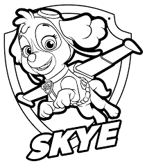 Small Picture PAW Patrol Skye Coloring Page Get Coloring Pages