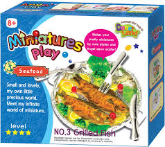 <b>Donerland Набор для лепки</b> Miniatures Play Grillde Fish — купить в ...
