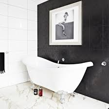 Black And White Bathroom Designs Ideal Home Awesome Black Bathroom Tile Ideas
