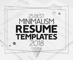 Modern Sleek Resume Templates 25 Best Minimalism Resume Templates 2018 Design Graphic