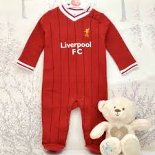 personalised liverpool baby sleep suit gift