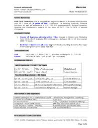 Excellent Sap Experience Resume Contemporary Resume Ideas