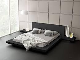 modern platform bed wood leather design  trendsuscom