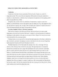 essay on conduction convection thermal conduction