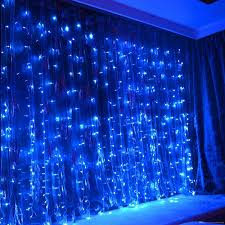 Curtain Led Lights Uk Lightes 300 Led Curtain Lights Blue Outdoor Or Indoor Christmas String Fairy Light By Remote Control