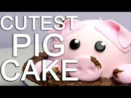How To Make A Piggy Cake Covered In Chocolate Mud Youtube