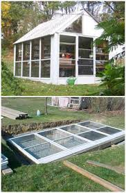diy fantastic greenhouse made from old windows and storm doors