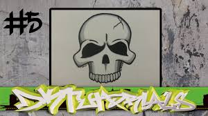 How to draw graffiti character #5 - Simple Skull step by step - YouTube