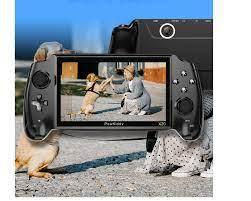 Máy chơi game Powkiddy X20 - Màn hình IPS 7 inch siêu nét, Rom 16GB chép  full 8000 game, kết nối được 2 tay cầm, tivi, nghe nhạc, xem phim, chụp  hình.