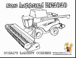 magnificent new holland combine tractor coloring pages with ...