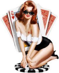 Image result for poker girl png