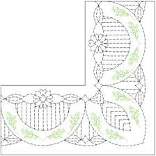 370 best Machine Quilting Inspirations images on Pinterest ... & Quilting for a wide border Adamdwight.com