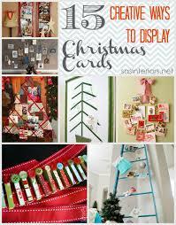 Creative Christmas Cards 15 Creative Ways To Display Christmas Cards Jenna Burger