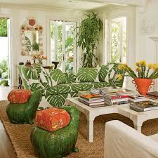 tropical style furniture. Wonderful Style Bold Focal Point Sofa In This Tropical Style Living Room For Furniture D